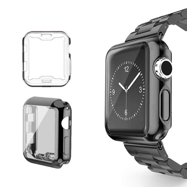 2-Pack Waloo Electroplate Case for Apple Watch Series 1, 2, 3, and 4