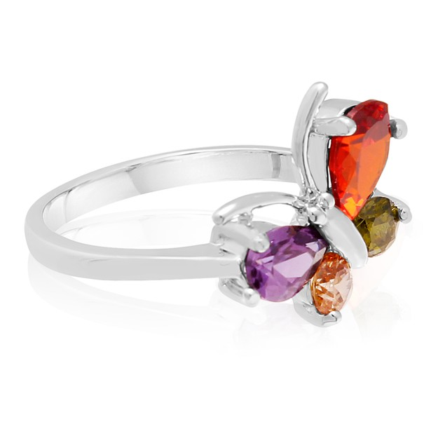 1 1/2 Carat Crystal Gemstone Butterfly Ring
