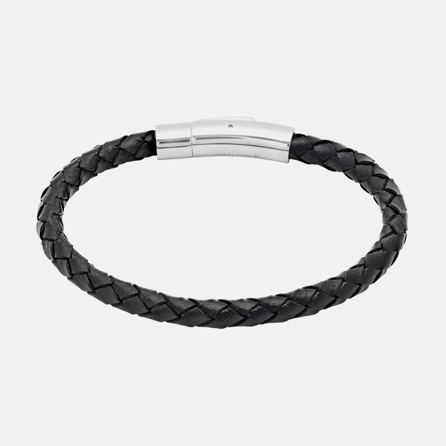 Mens Leather push and pull Bracelet
