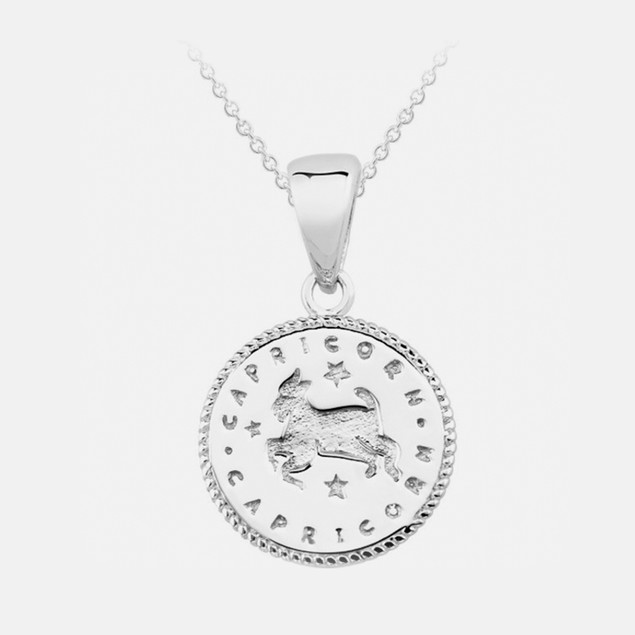 Inspired Sterling Silver Zodiac Pendant - Capricorn