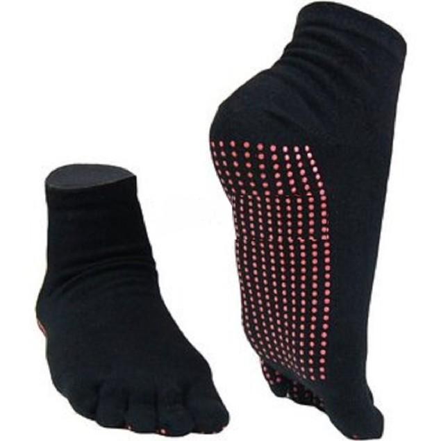 3 Pairs: Two Elephants™ Slide-Free Yoga Socks