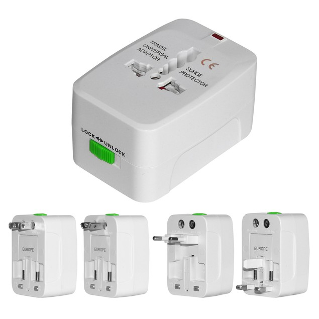 International 4-in-1 Travel Adaptor w/ Surge Protector
