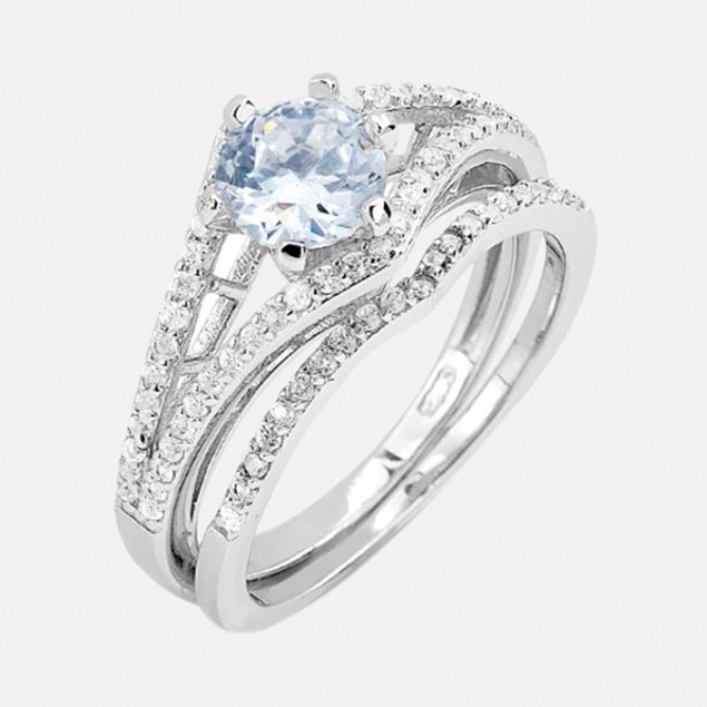 Sterling Silver 1.5ct Catrina Engagement Ring