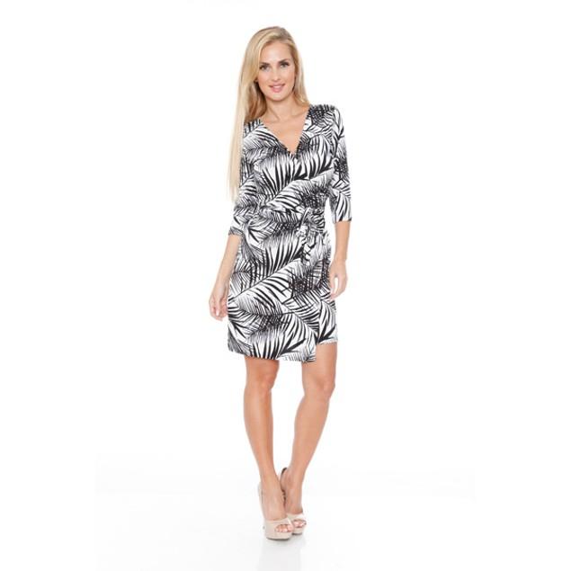 White Mark Women's 'Mariah' Wrap Dress - Hawaiian