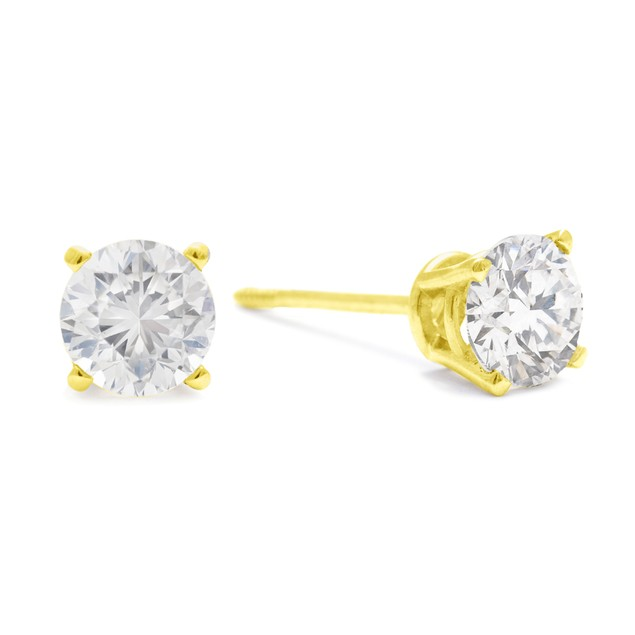 Diamond Stud Earrings 3/4cttw