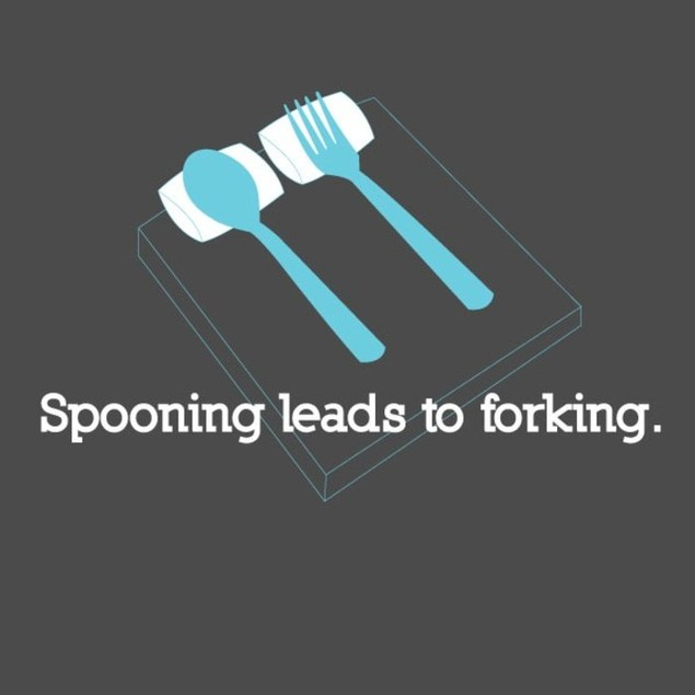 Spooning Leads To Forking T-Shirt