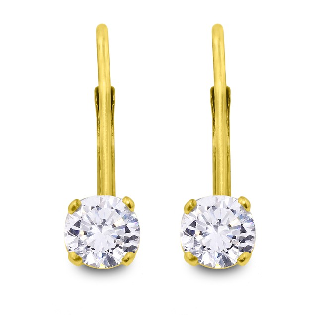 Diamond Drop Earrings 1/2cttw