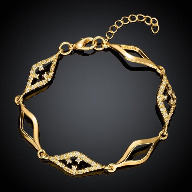 Gold Plated Diamond Cut Bracelet