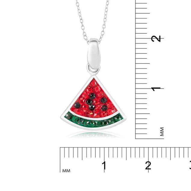 Crystal Novelty Fashion Necklace - Watermelon
