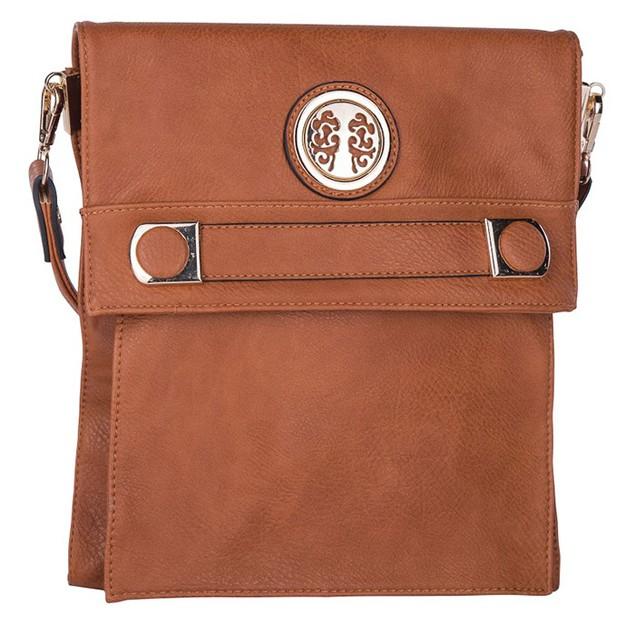 MKF Collection Elegant Flip-Top Crossbody Bag by Mia K Farrow