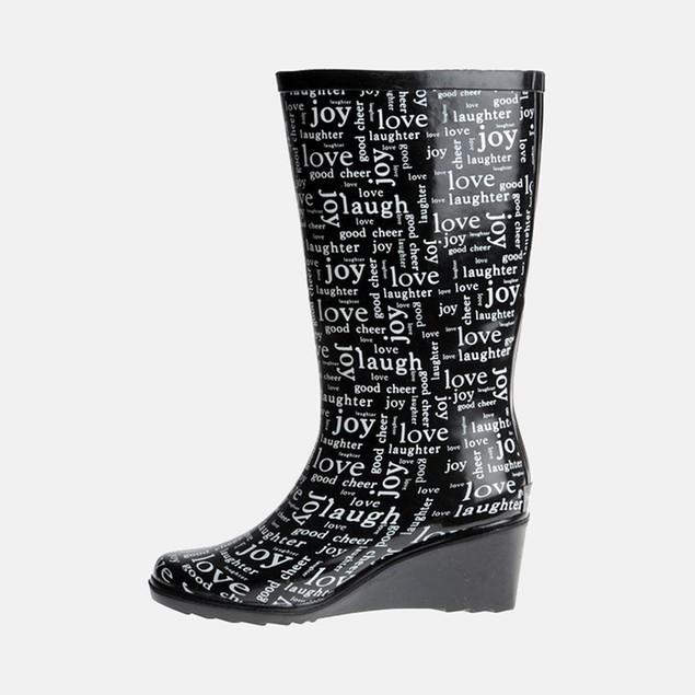 Henry Ferrera Women's Love Rain Boots - Black
