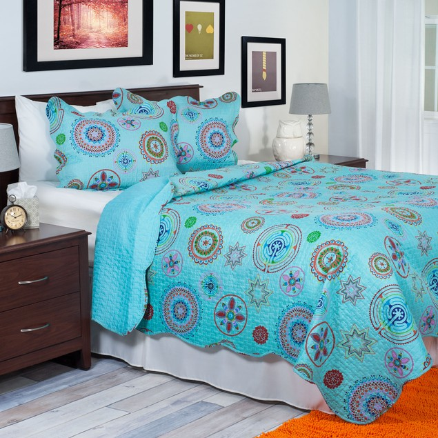 Lavish Home 3 Piece Serena Quilt Set