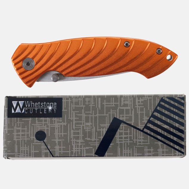 Whetstone AL Handle Satin Blade Pocket Knife