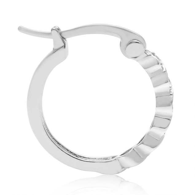 Diamond Twist Hoop Earrings 0.02cttw