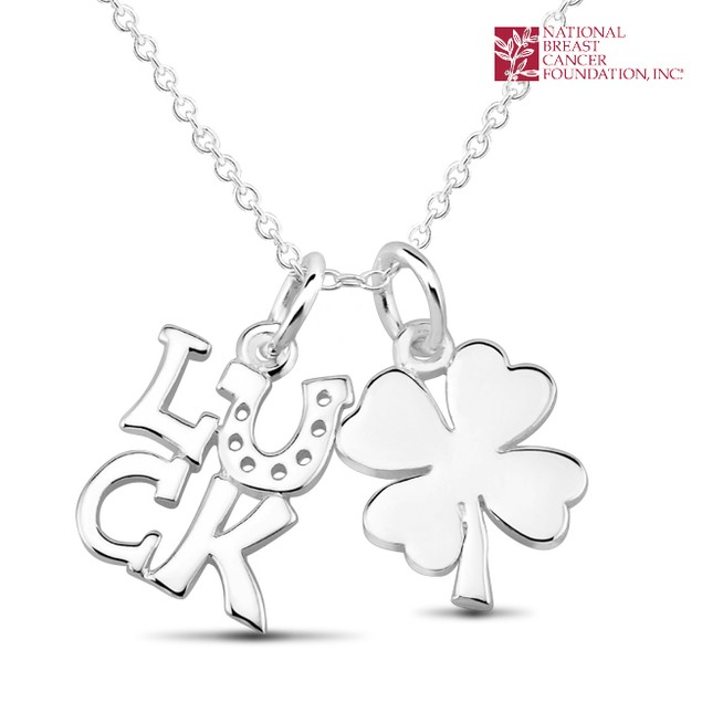 National Breast Cancer Foundation Inspirational Jewelry - Sterling Silver Luck Pendant