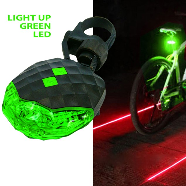iCover Bicycle Rear Safety Light with Laser Beams