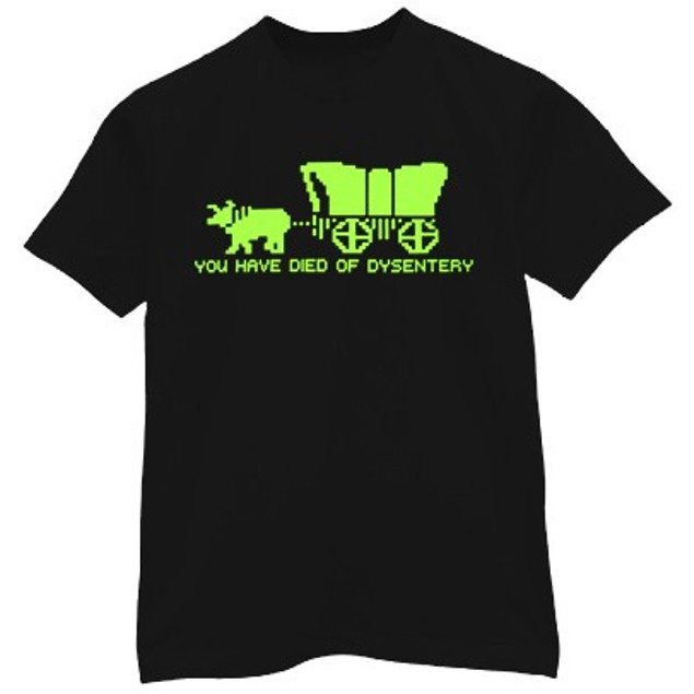 Oregon Trail, Died of Dysentery T-Shirt
