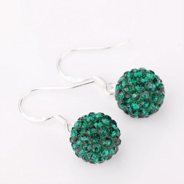 Vivid Royal Austrian Stone Drop Earrings