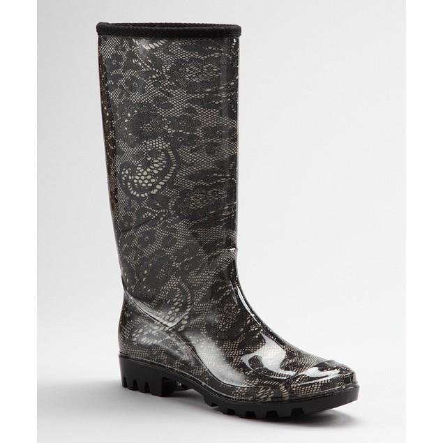 Black & White Victorian Floral Lace Boots