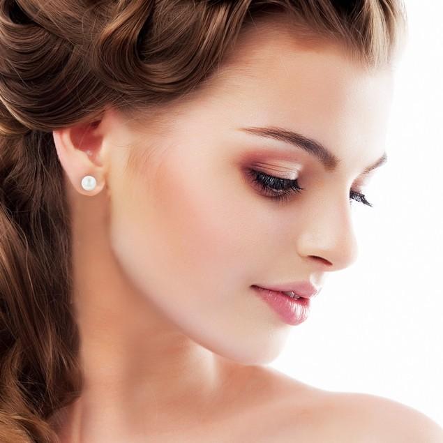 8mm Cultured Pearl Stud Earrings