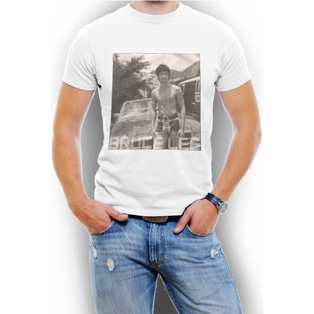 Classc Bruce Lee Black/White Men T-Shirt