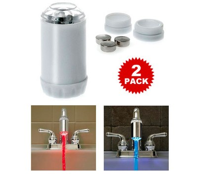 2 Pack Temperature Controlled Led Cold Amp Hot Faucet Light