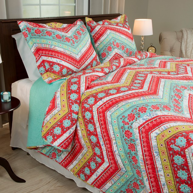 Lavish Home 3 Piece Zina Quilt Set