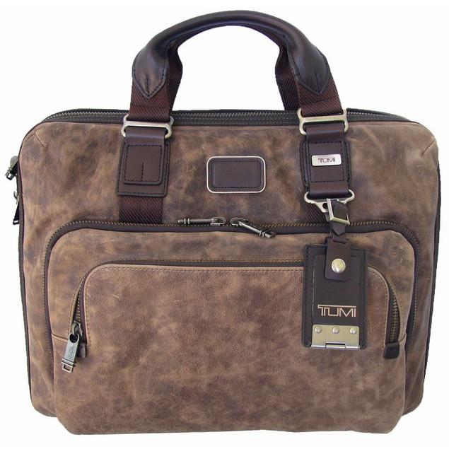 Tumi Luggage Bravo Leather Yuma Slim Brief