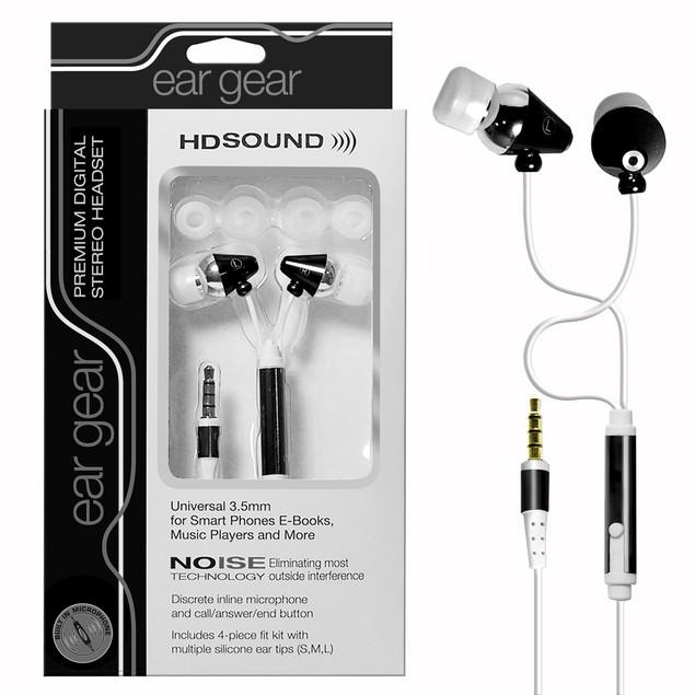 Ear Gear Headsets w/ Microphone