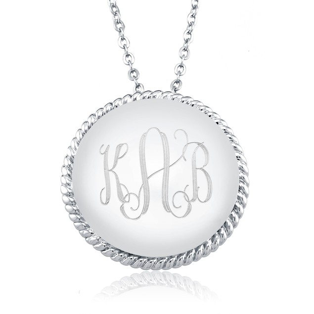 Personalized Monogram Drop Braided Necklace