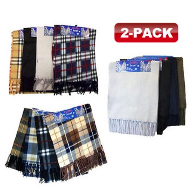 Free 2-Pack Adult Fleece Scarves