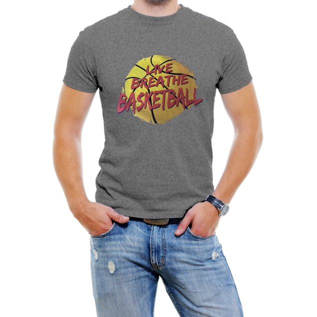 """Live Breathe Basketball"" Men's T-Shirt"