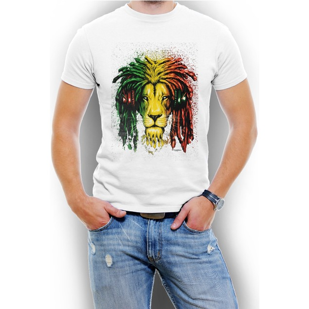 """Jamaica Lion"" Men T-Shirt Assorted Colors"