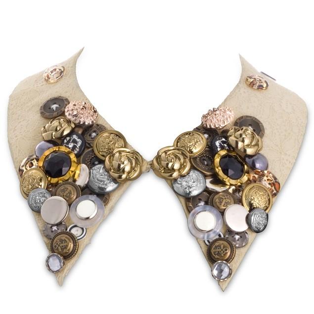 Boho Collar Button Necklace