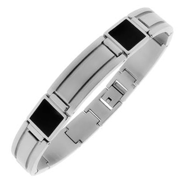 Men's Two-Tone Stainless Steel Chain Link Bracelet