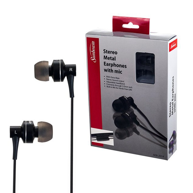 Sunbeam Stereo HD Bass Metal Earphones