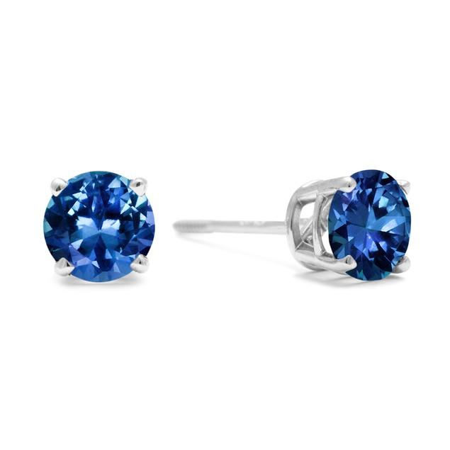 Blue Diamond Stud Earrings 1cttw