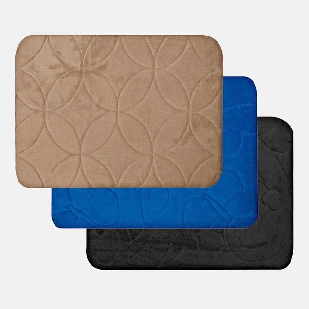 Luxury Embossed 16x24 Memory Foam Bath Mat