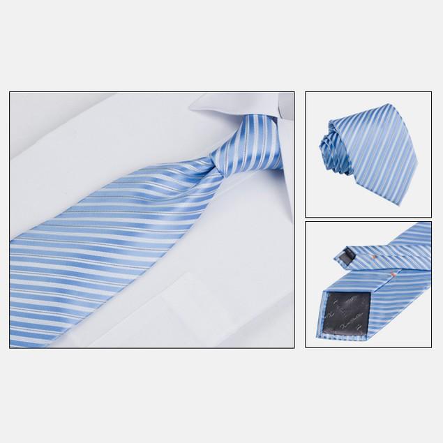 Mens Dress Suit Tie Set - Light Blue