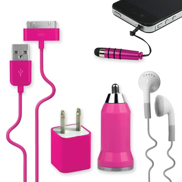 5-in-1 Charging Set for iPhone 4/4s
