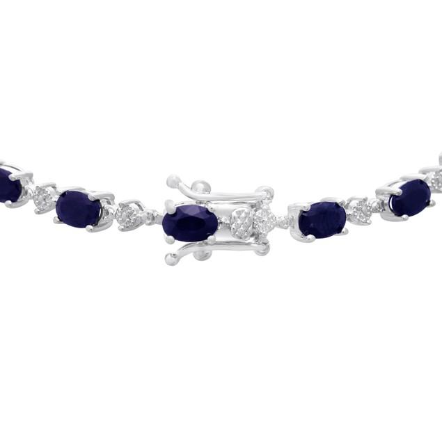 9.75cttw Sapphire and Diamond Bracelet
