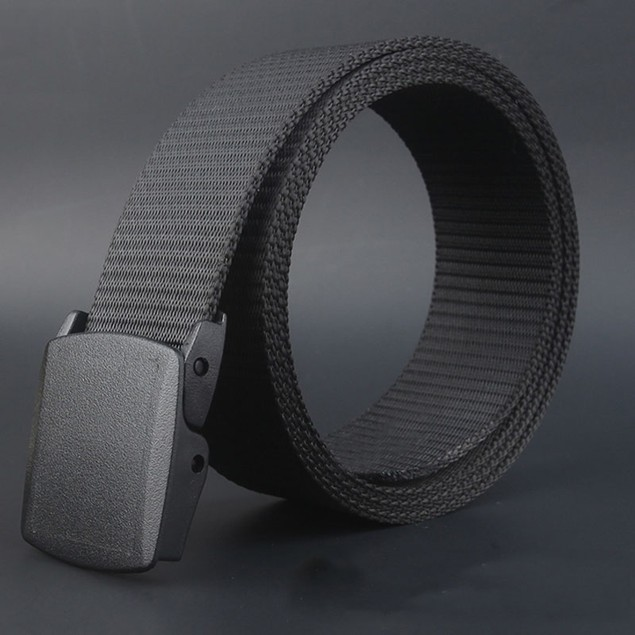 Men's Canvas Belt with Plastic Automatic Buckle - 5 Colors