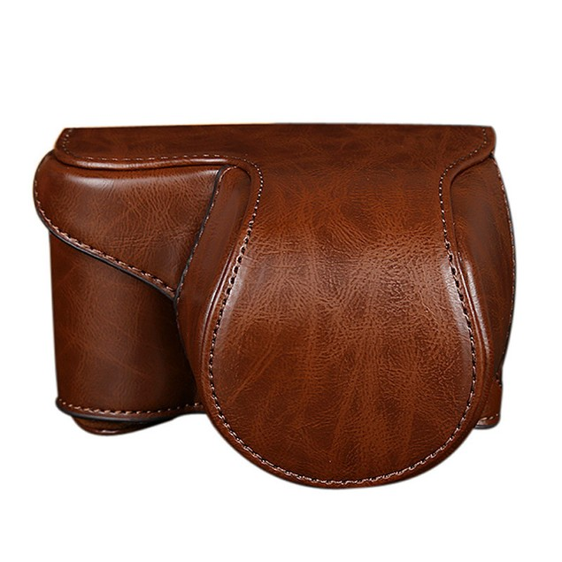 Leather Camera Bag Case Cover Pouch For Sony A5000 A5100 NEX 3N