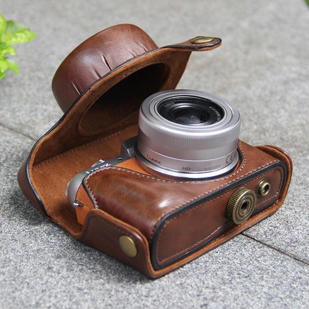 Leather Camera Case Bag Cover Pouch For Panasonic GF8 GF7