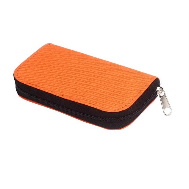 22-Slot Memory Card Zipper Case - 5 Colors