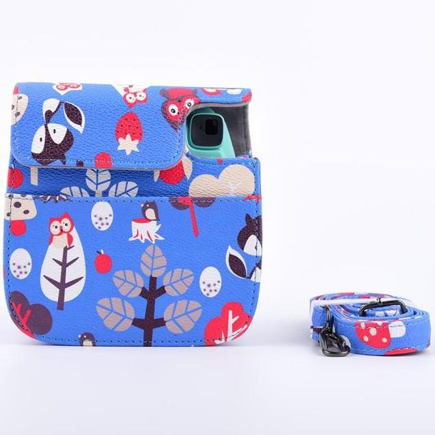 Leather Owl Camera Case Bag For FUJIFILM Instax Mini8 Mini8s